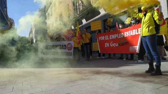 Imagen de archivo de una manifestación de los trabajadores de Geacam.