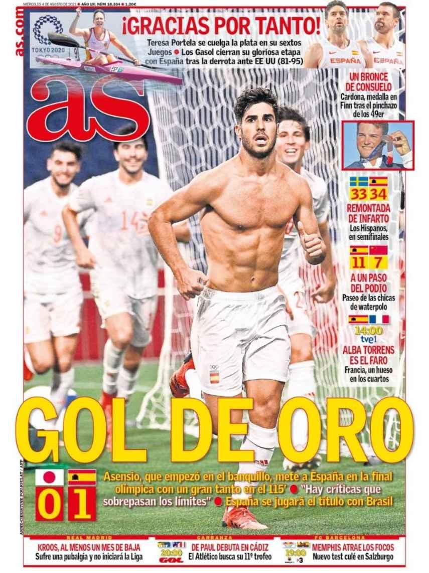La portada del diario AS (04/08/2021)