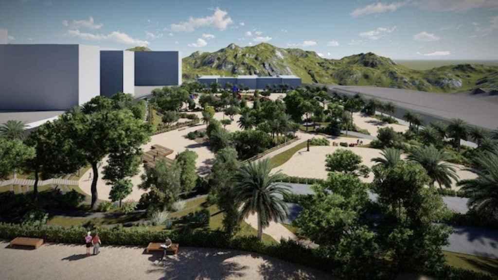 Representación de las obras del parque público del PAU II que tendrá una extensión de 20.000 metros.