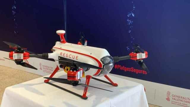 El dron presentado en Xàbia.