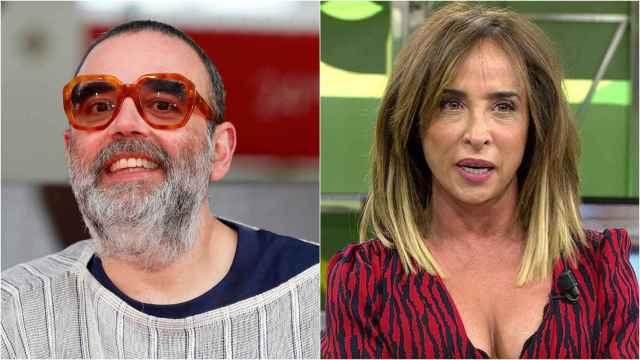 Bob Pop y María Patiño en montaje de BLUPER.
