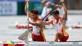 Cayetano García y Pablo Martínez, en el C2 1000 masculino de piragüismo en los Juegos Olímpicos de Tokio 2020