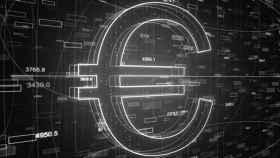 Imagen de archivo del logo del euro.