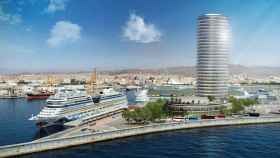 Diseño de la torre del puerto de Málaga.
