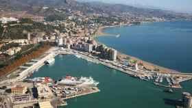 Imagen de archivo del puerto de Málaga.