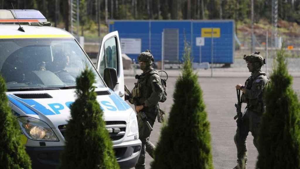 Despliegue policial en Kristianstad, al sur de Suecia.
