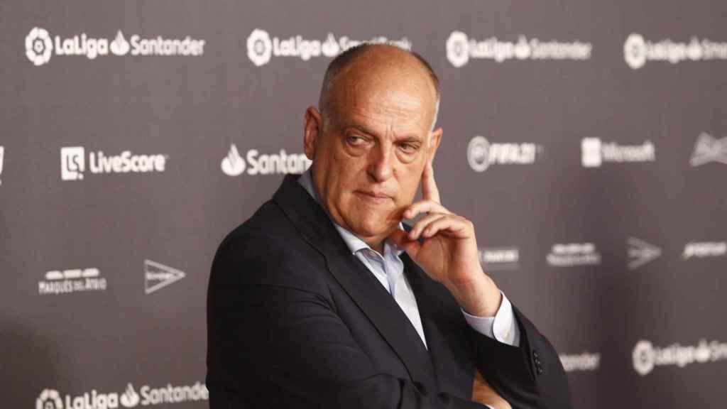 Javier Tebas, en la Gala de Campeones de La Liga 2020/2021