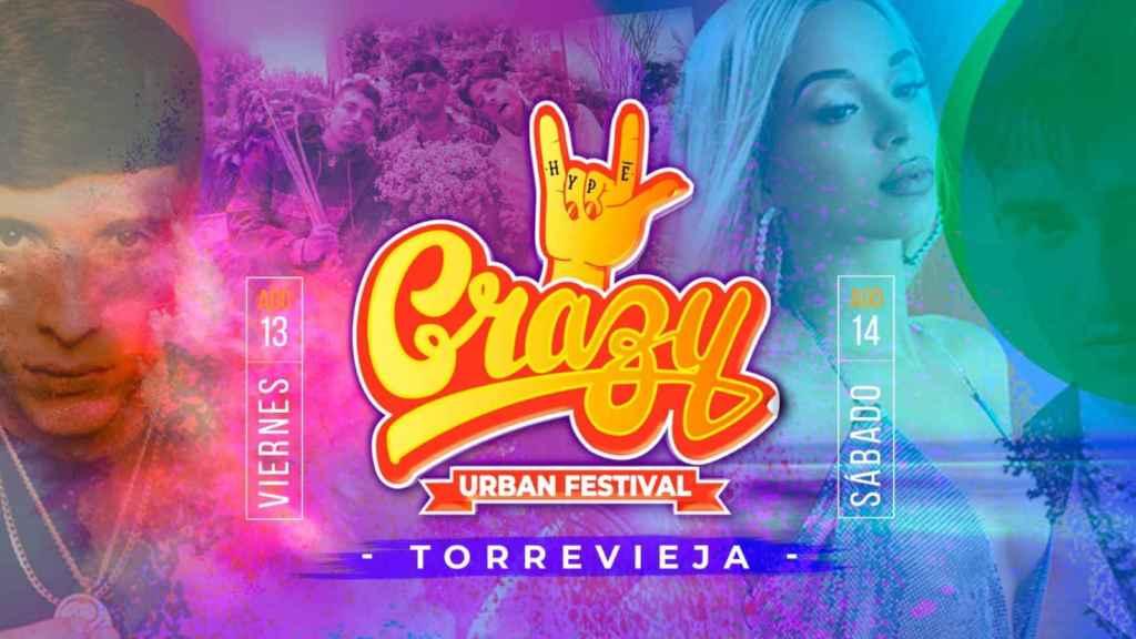 Torrevieja se prepara para recibir a Bad Gyal, Recycled y Locoplaya en el 'Crazy Urban Festival'