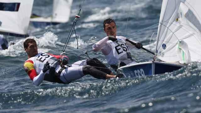 Jordi Xammar y Nico Rodríguez en el 470 de vela en los Juegos Olímpicos de Tokio 2020