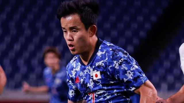 Takefusa Kubo, en un partido de la selección de Japón