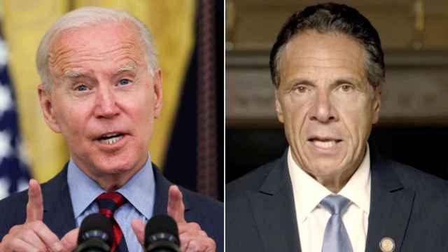 Joe Biden, presidente de Estados Unidos, y Andrew Cuomo, gobernador de Nueva York.