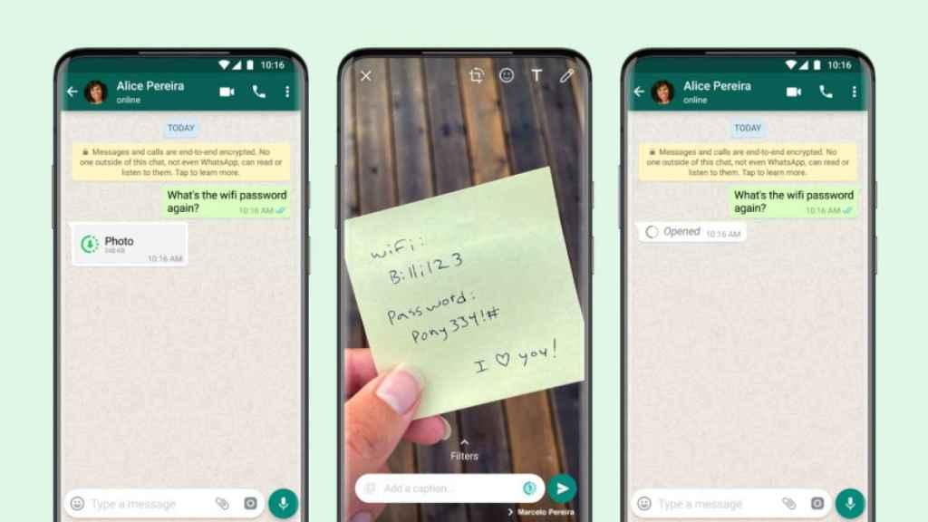 Fotos y videos que se autodestruyen  en WhatsApp