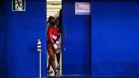 La gimnasta estadounidense Simone Biles durante los Juegos Olímpicos de Tokio.