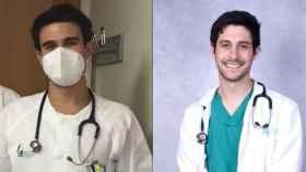 Nicolás (izquierda), y Manuel, dos médicos residentes.