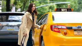 Rachel Weisz en el rodaje de la película 'Dead Ringers' en Nueva York.