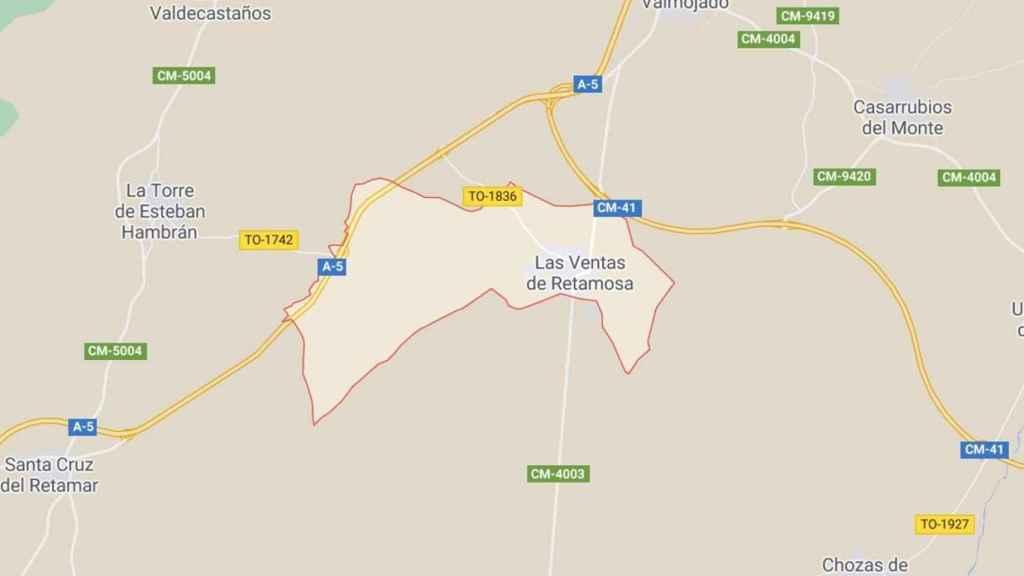 Plano de Las Ventas de Retamosa (Toledo)