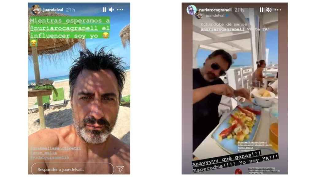 Las publicaciones de Juan del Val en sus 'stories' de Instagram.
