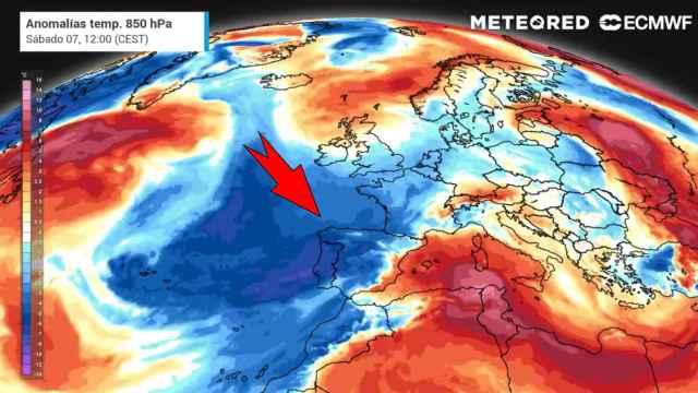 La entrada de aire frío procedente de latitudes árticas sobre España. METEORED