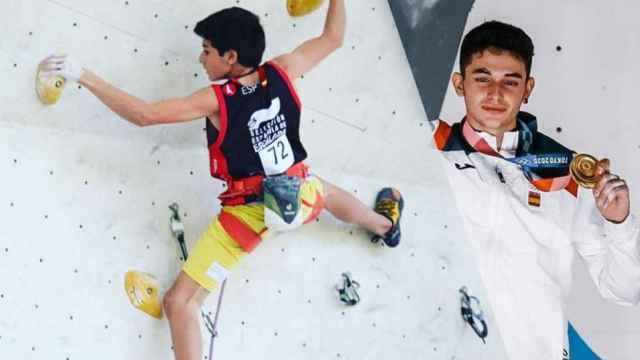 Alberto Ginés, el oro en escalada que se fue de casa a los 15 y que paga por entrenar en un rokódromo