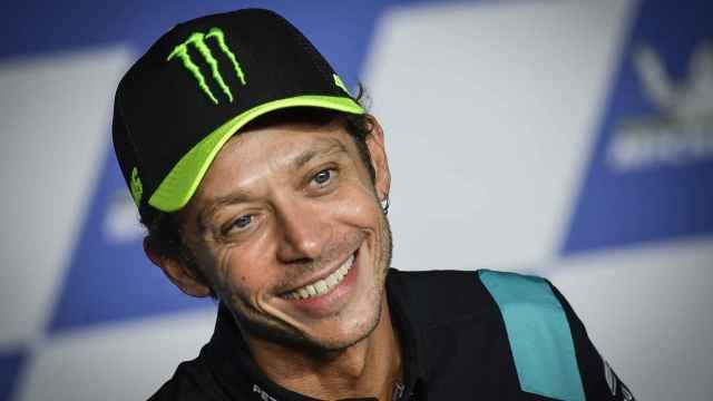 Valentino Rossi, durante el anuncio de su retirada en el Red Bull Ring de Spielberg.
