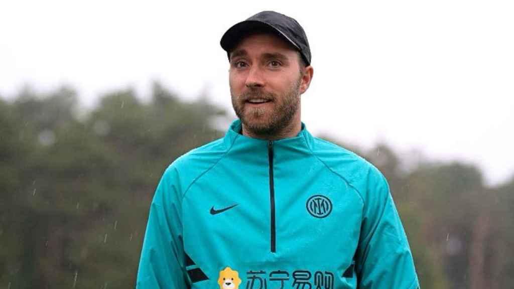 Christian Eriksen, en la ciudad deportiva del Inter de Milán