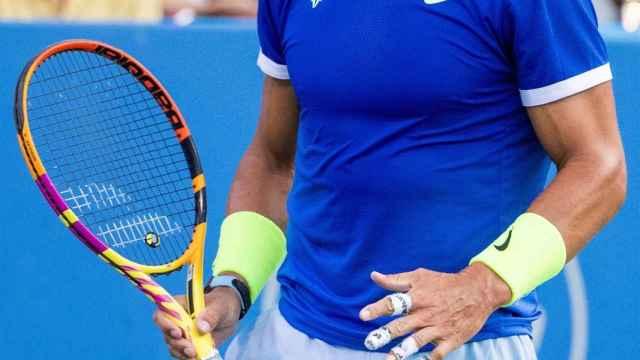 Las mejores imágenes del partido entre Rafa Nadal y Jake Sock en Washington: victoria del español... ¡lesionado!
