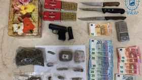 Droga y efectos incautados por la Policía Local de Málaga