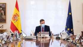 Pedro Sánchez, durante un Consejo de Ministros.