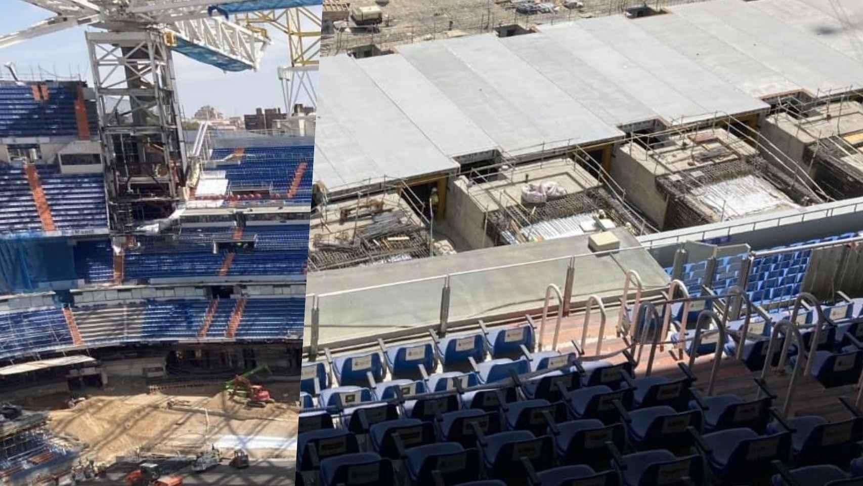 El terreno de juego del Santiago Bernabéu, a comienzos de agosto de 2021