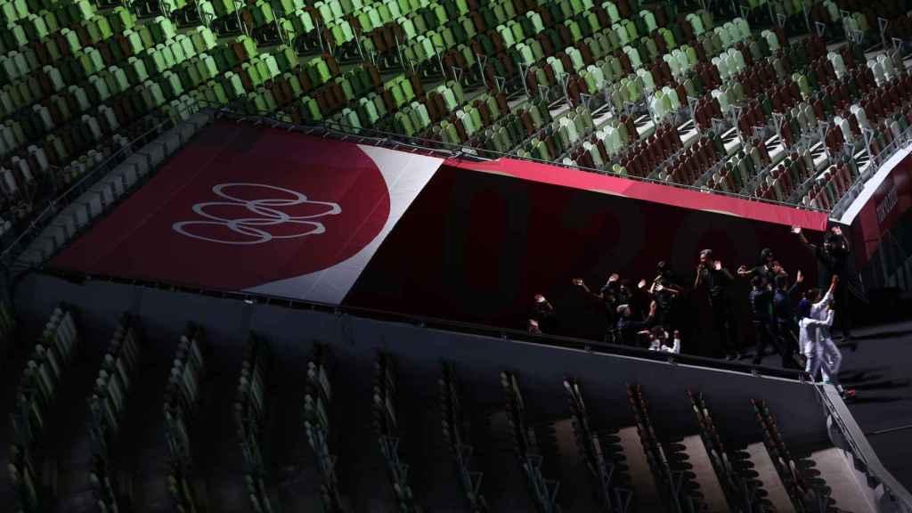 Empty stands of Tokyo 2020 Stadium