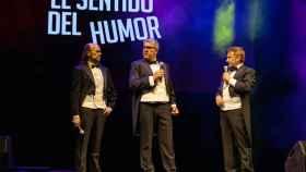 Santiago Segura, Florentino Fernández y José Mota en la actuación de anoche.