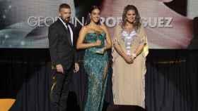 Antonio Banderas, Georgina Rodríguez y Sandra García-Sanjuán en la Gala Starlite 2021.