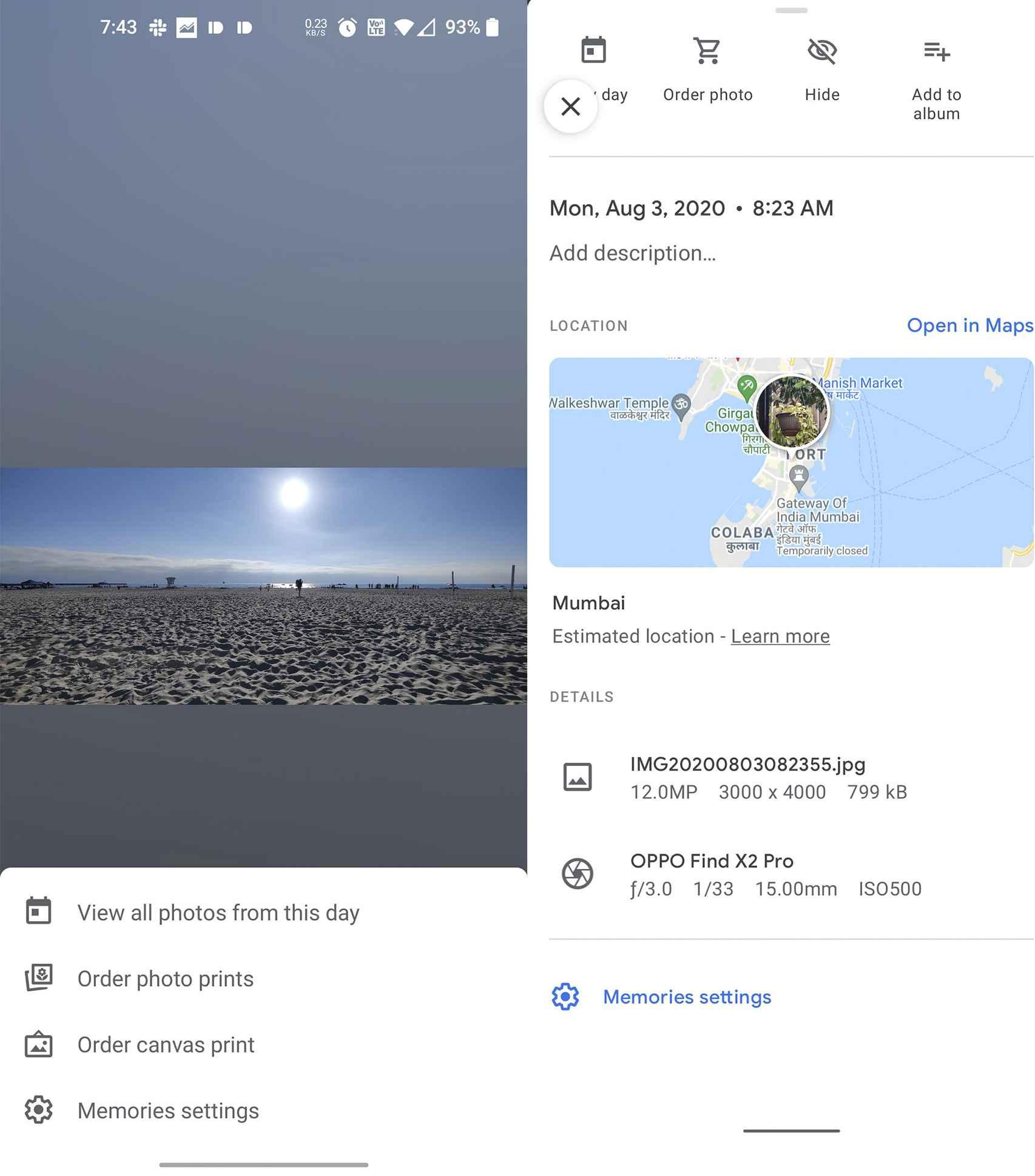 El antes y después de la novedad de Google Fotos