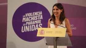 La ministra de Igualdad, Irene Montero, presenta la Iniciativa Punto Violeta en el Ministerio de Igualdad a 28 de julio de 2021, en Madrid.