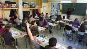 Aula de un colegio público madrileño.