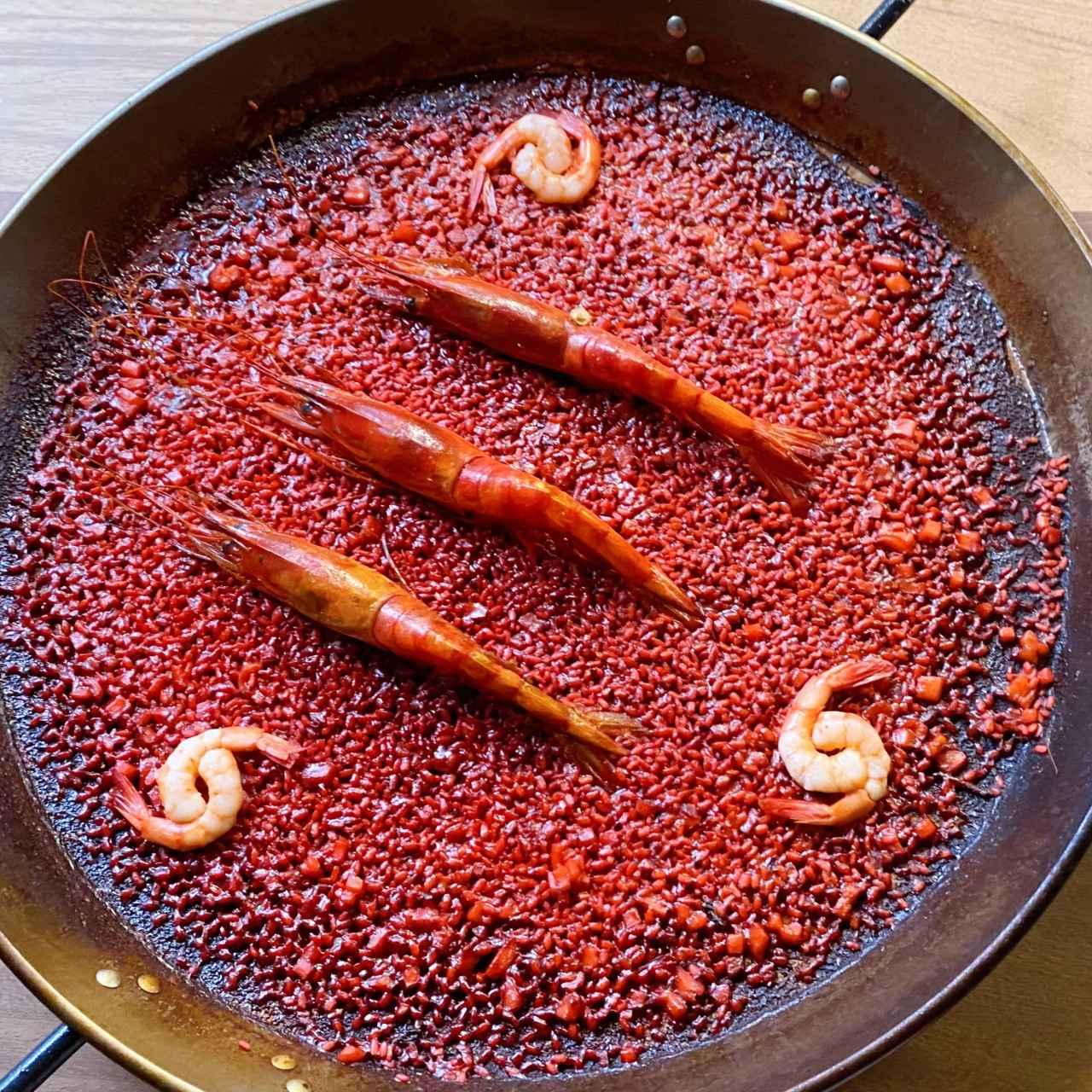 Arroz seco rojo de carabineros - Fandango