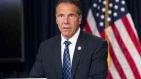 El ex gobernador de Nueva York, Andrew Cuomo, en una conferencia de prensa.
