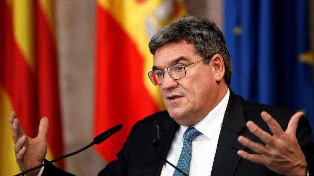 José Luis Escrivá, ministro de Migraciones, Seguridad Social e Inclusión, durante una comparecencia en el Congreso.