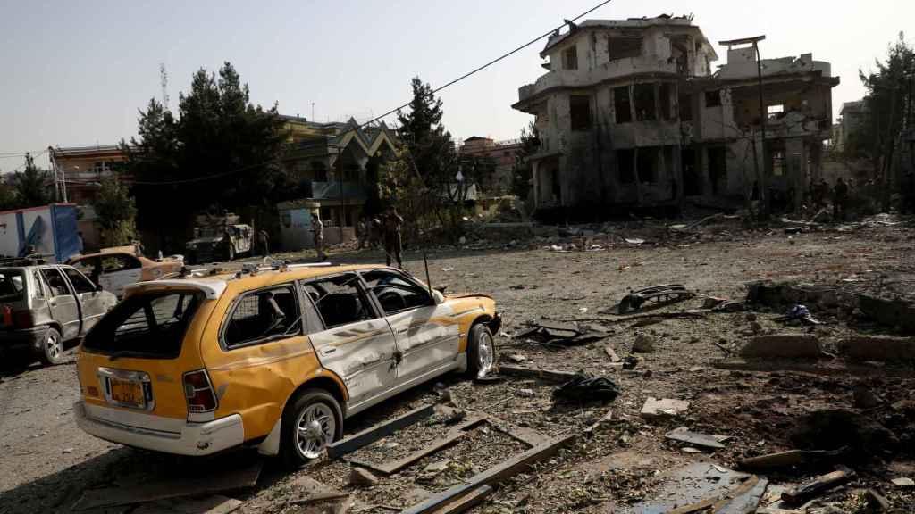 Daños provocados por un coche bomba en Kabul, el pasado 4 de agosto.