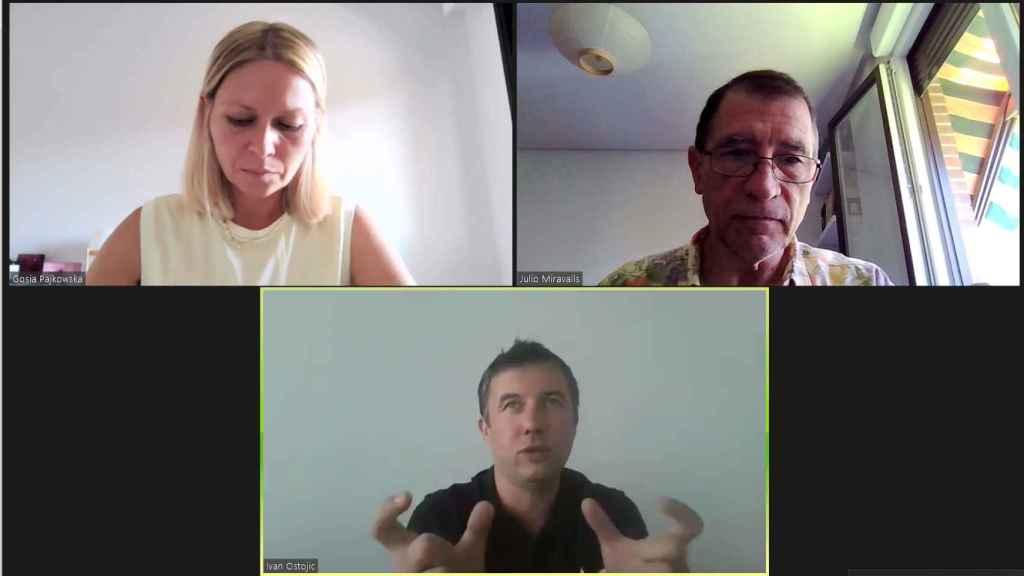 Un instante de la conversación de D+I con Ivan Ostojic.