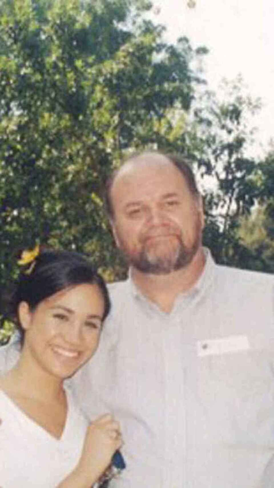 Meghan and her father when they still had a good relationship.