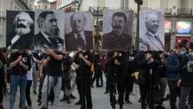 Manifestación comunista en Madrid