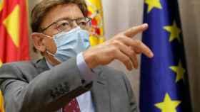 Ximo Puig insiste en el bulo de que la Comunidad Valenciana está por encima de la media en vacunación.