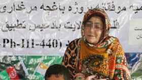 Najiba Faiz Helmandi, colaboradora afgana del Gobierno de España.