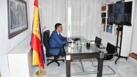Sánchez, en la reunión telemática de este miércoles con Robles y Albares.