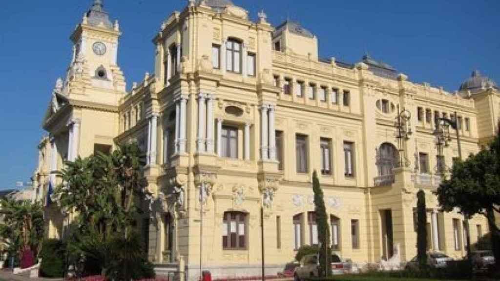 Imagen de la fachada del Ayuntamiento de Málaga