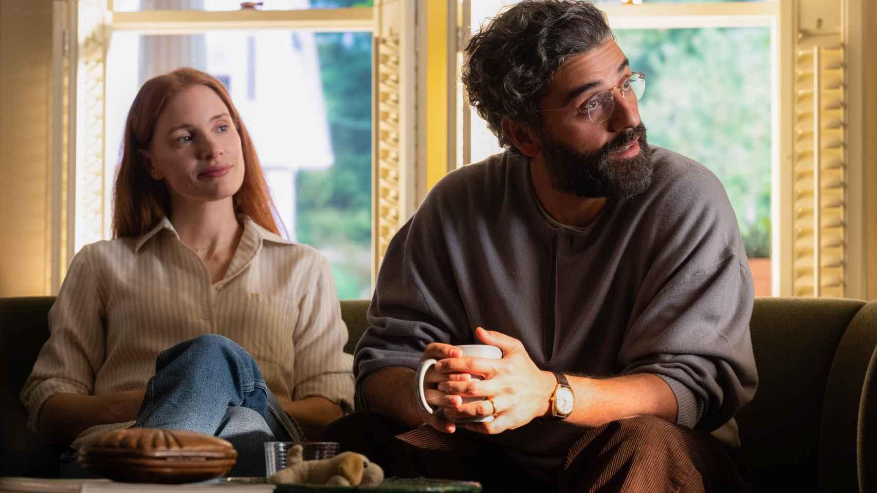 'Secretos de un matrimonio', primeras imágenes de la serie de HBO con Oscar Isaac y Jessica Chastain.