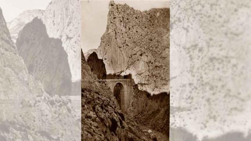 Imagen antigua del puente de Mascarat.
