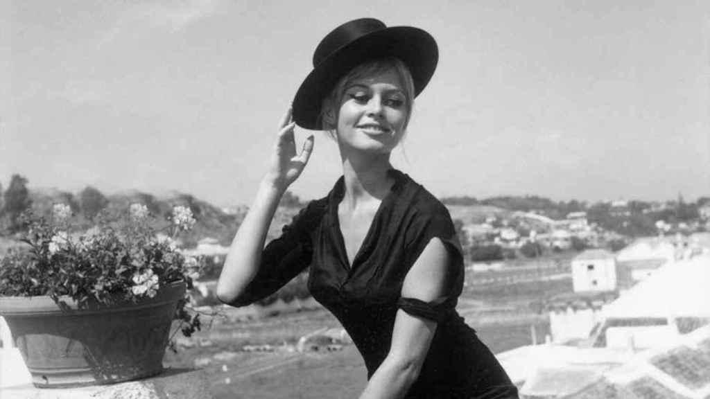 Brigitte Bardot disfrutó de la hermosa y coqueta playa de La Carihuela.