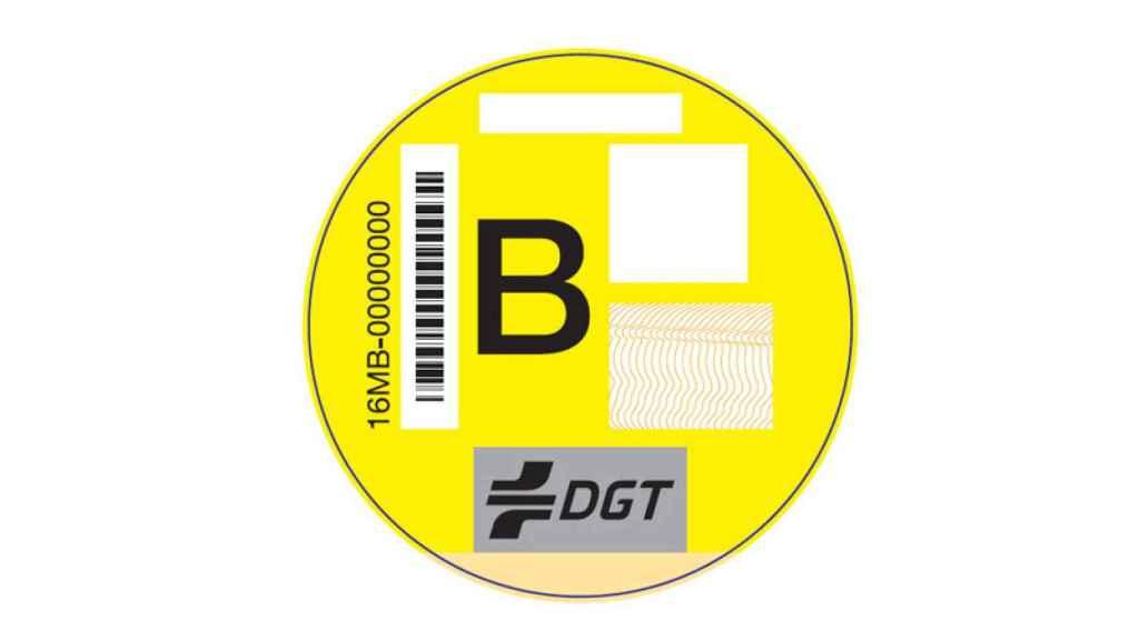 Etiqueta B de la DGT.